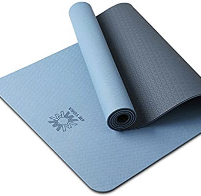 Yoga Mat Eco Friendly TPE Non Slip Yoga Mats By SGS Certified with Carrying Strap