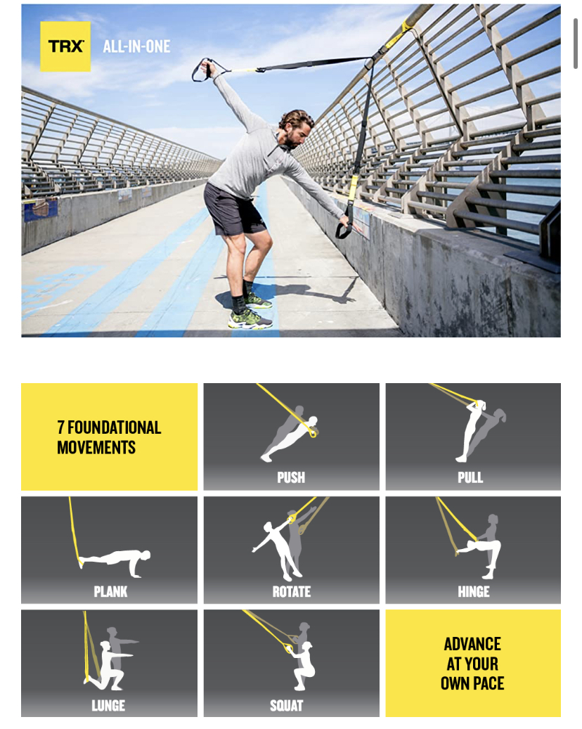 TRX ALL-IN-ONE Suspension Training: Bodyweight Resistance System | Full Body Workouts for Home, Travel, and Outdoors