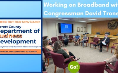 Working On Broadband Expansion In Garrett County With Congressman David Trone – +3 Prize Points